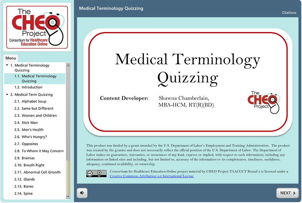 test in medical terminology
