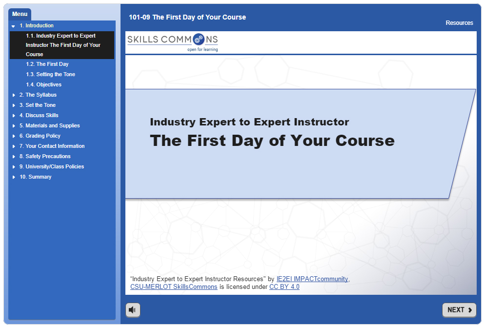 the First Day of Your Course