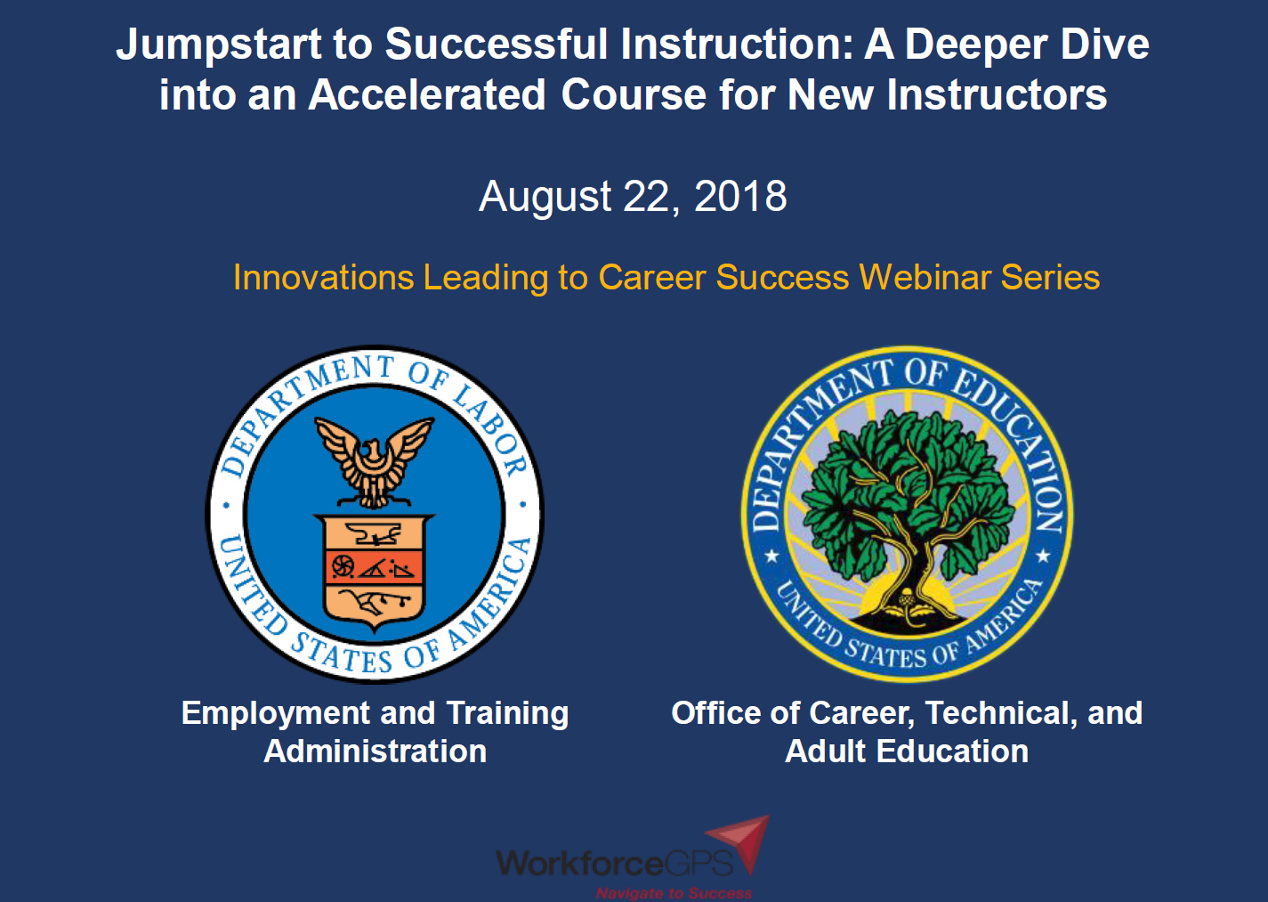 Jumpstart to Successful Instruction: A Deeper Dive into an Accelerated Course for New Instructors