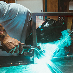 Prepping for gas metal arc welding