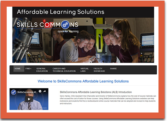 Affordable Learning Portal