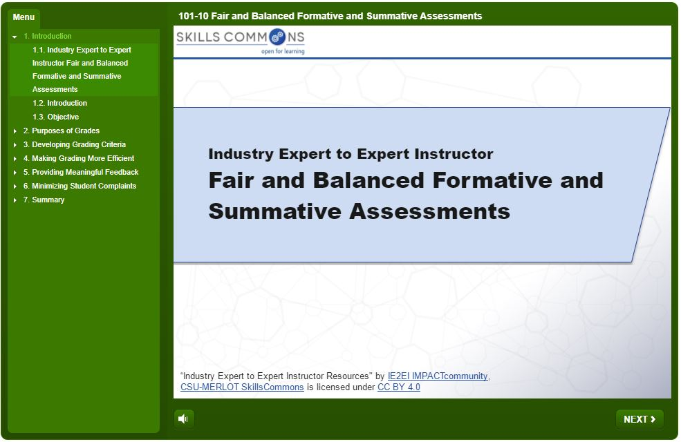 Fair and Balanced Formative and Summative Assessments