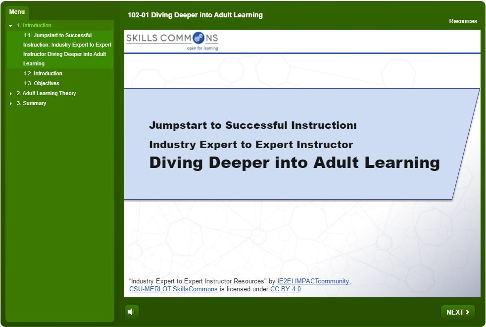 Diving Deeper Into Adult Learning